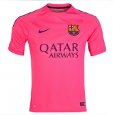 14-15 Barcelona Pink Training Soccer Jersey Shirt