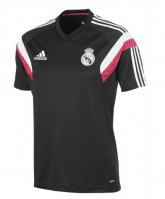 14-15 Real Madrid Black Training Soccer Jersey Shirt