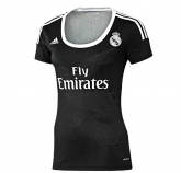 14-15 Real Madrid Away Black Womens Jersey Shirt