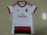 14-15 AC Milan Away White Women's Jersey Shirt