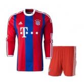 14-15 Bayern Munich Home Red Long Sleeve Kit(Shirt+Short)