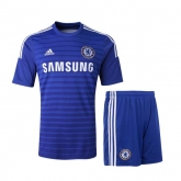 14-15 Chelsea Blue Home Soccer Jersey Kit(Shirt+Short)