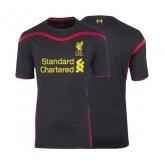 14-15 Liverpool Goalkeeper Black Soccer Jersey Shirt