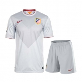 14-15 Atletico Madrid Away Gray Soccer Jersey Kit(Shirt+Short)