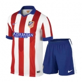 14-15 Atletico Madrid Home Soccer Jersey Kit(Shirt+Short)