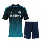 14-15 Chelsea Away Navy Soccer Jersey Kit(Shirt+Short)