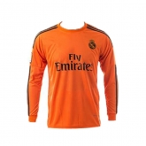 14-15 Real Madrid Goalkeeper Orange Long Sleeve Jersey Shirt