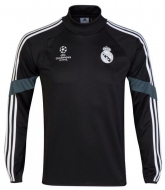 14-15 Real Madrid Black Champion League Sweat Shirt