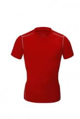 Red Soccer Short Sleeve Skintight Under Shirt