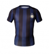 Colourful Inter Milan Soccer Short Sleeve Skintight Under Shirt Model No.21