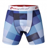 Colourful Blue Tartan Soccer Base Layer Under Short  Model No.5