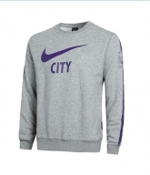 14-15 Manchester City Gray Tracking Sweater Top Shirt