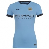 14-15 Manchester City Home Womens Jersey Shirt