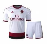 14-15 AC Milan Away White Soccer Jersey Kit(Shirt+Short)