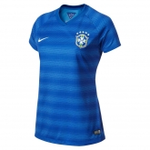 2014 Brazil Away Bule Women's Jersey Shirt