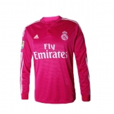 14-15 Real Madrid Away Pink Long Sleeve Jersey Shirt