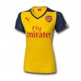 14-15 Arsenal Away Yellow Woman Jersey Shirt