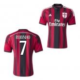 14-15 AC Milan Robinho #7 Home Soccer Jersey Shirt