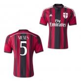 14-15 AC Milan Mexes #5 Home Soccer Jersey Shirt