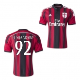 14-15 AC Milan El Shaarawy #92 Home Soccer Jersey Shirt