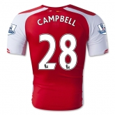14-15 Arsenal CAMPBELL #28 Home Soccer Jersey Shirt