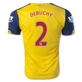 14-15 Arsenal DEBUCHY #2 Away Yellow Soccer Jersey Shirt