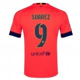 14/15 Barcelona Suárez #9 Away Pink Soccer Jersey Shirt