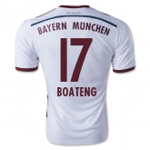 14-15 Bayern Munich Boateng #17 Away White Soccer Jersey Shirt