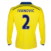 14-15 Chelsea Ivanovic #2 Away Yellow Long Sleeve Jersey Shirt