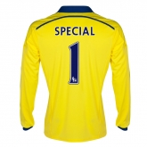 14-15 Chelsea Special #1 Away Yellow Long Sleeve Jersey Shirt