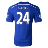 14-15 Chelsea CAHILL #24 Home Soccer Jersey Shirt
