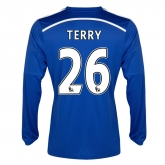 14-15 Chelsea Terry #26 Home Long Sleeve Jersey Shirt