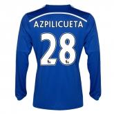 14-15 Chelsea Azpilicueta #28 Home Long Sleeve Jersey Shirt