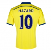 14-15 Chelsea Hazard #10 Away Yellow Soccer Jersey Shirt