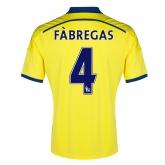 14-15 Chelsea FÀBREGAS #4 Away Yellow Soccer Jersey Shirt