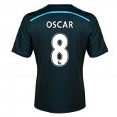 14-15 Chelsea Oscar #8 Away Navy Soccer Jersey Shirt