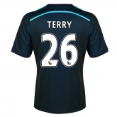 14-15 Chelsea Terry #26 Away Navy Soccer Jersey Shirt