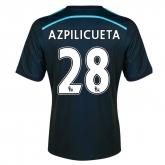14-15 Chelsea Azpilicueta #28 Away Navy Soccer Jersey Shirt