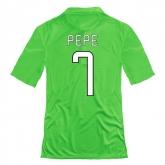 14-15 Juventus Pepe #7 Away Green Jersey Shirt