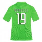 14-15 Juventus Bonucci #19 Away Green Jersey Shirt