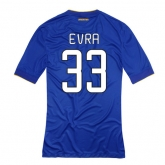 14-15 Juventus Evra #33 Away Blue Jersey Shirt