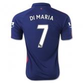 14-15 Manchester United DI MARIA #7 Away Blue Jersey Shirt