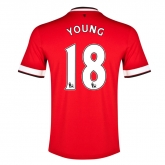 14-15 Manchester United Young #18 Home Jersey Shirt