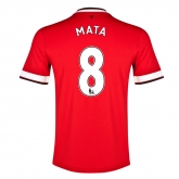 14-15 Manchester United Mata #8 Home Jersey Shirt
