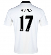 14-15 Manchester United Blind #17 Away White Jersey Shirt