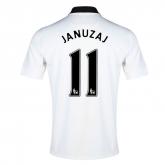14-15 Manchester United Januzaj #11 Away White Jersey Shirt