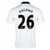 14-15 Manchester United Kagawa #26 Away White Jersey Shirt