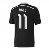 14-15 Real Madrid Bale #11 Away Black Champion League Jersey Shirt