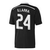 14-15 Real Madrid Illarra #24 Away Black Champion League Jersey Shirt