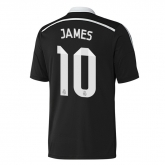 14-15 Real Madrid James #10 Away Black Champion League Jersey Shirt